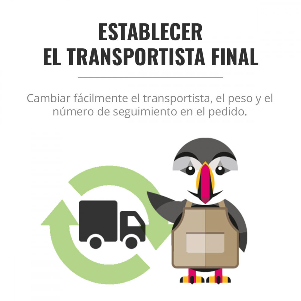 module - Transportistas - Establecer el transportista final - 1