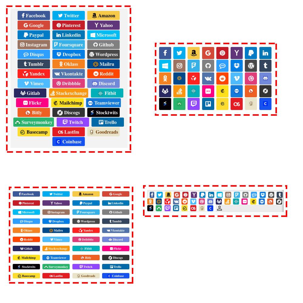 module - Botones de inicio de Sesión/Conexión - Sociales Login & Conexiones 40 en 1 Cupón, Estadísticas - 9