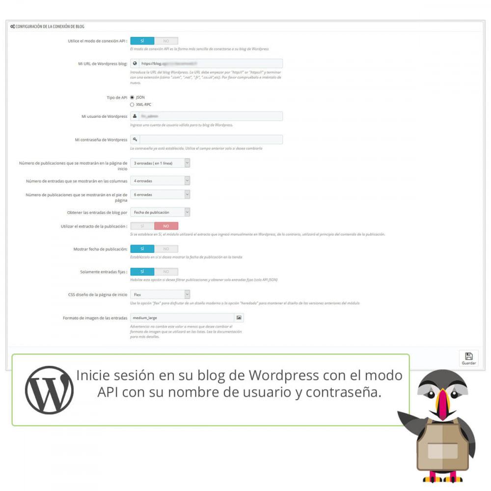module - Blog, Foro y Noticias - Mis entradas de Wordpress - 4