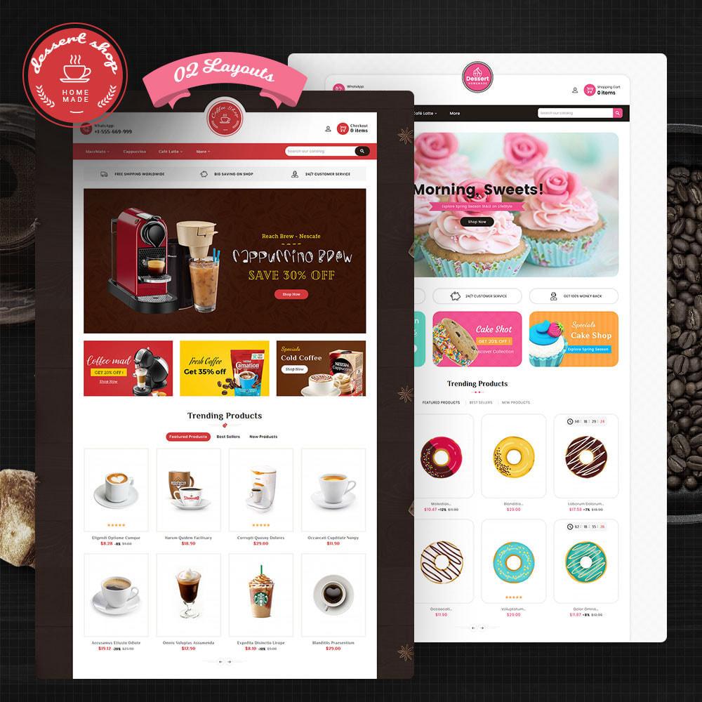 theme - Продовольствие и рестораны - Dessert - Cake & Coffee Store - 1