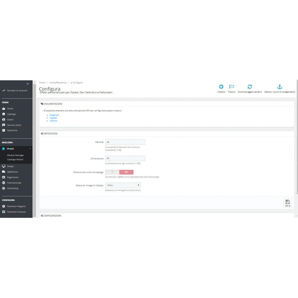 module - Personalizzazione pagine - Effetti personalizzati per Natale, San Valentino, etc - 1