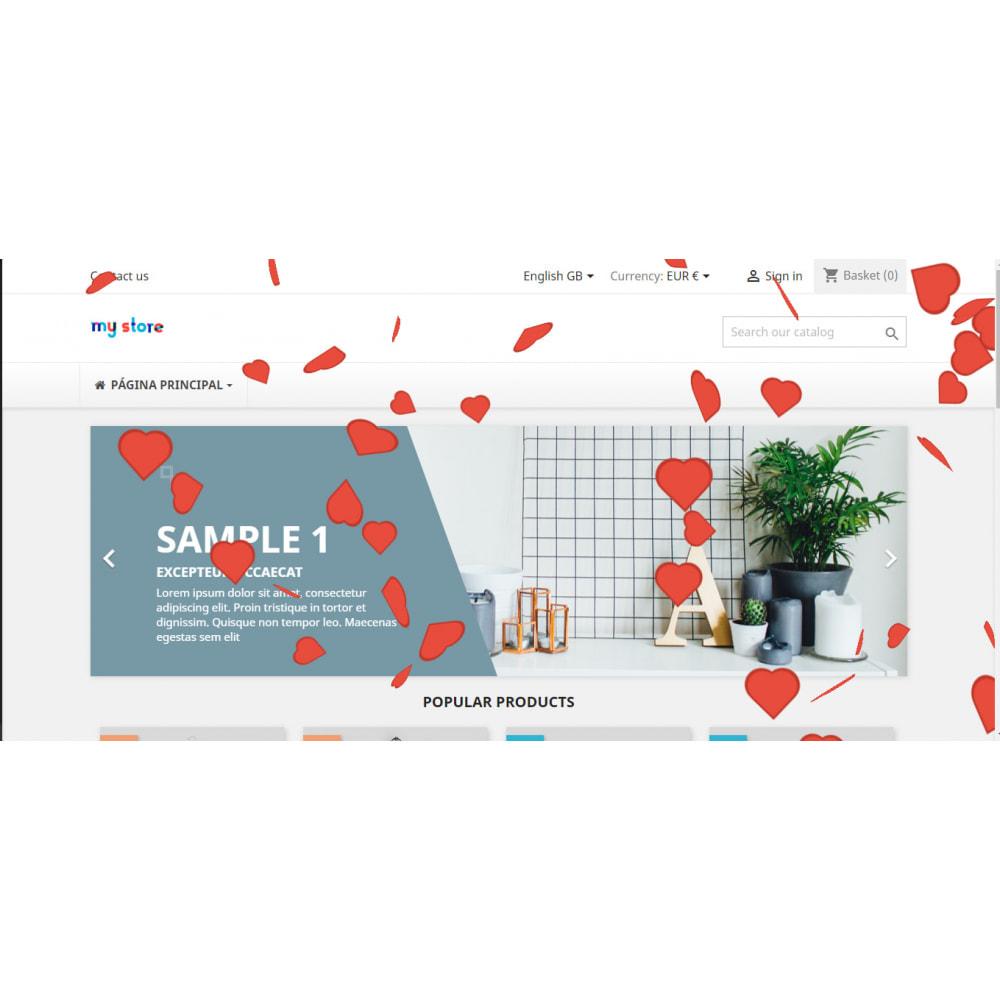 module - Personalizzazione pagine - Effetti personalizzati per Natale, San Valentino, etc - 3