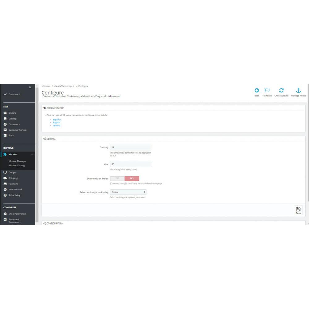 module - Personalizacja strony - Custom effects for Christmas, Valentine's Day, etc - 1
