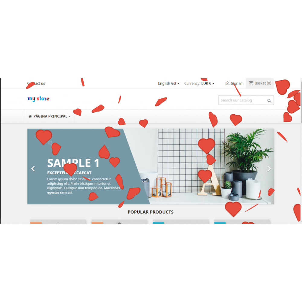 module - Personalizacja strony - Custom effects for Christmas, Valentine's Day, etc - 3