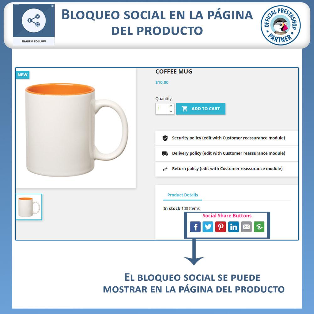 module - Compartir contenidos y Comentarios - Compartir y Seguir - Widget social - 4