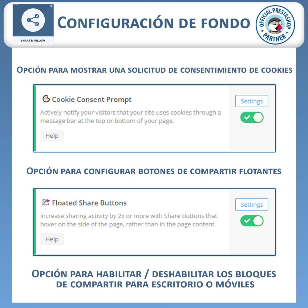 module - Compartir contenidos y Comentarios - Compartir y Seguir - Widget social - 7