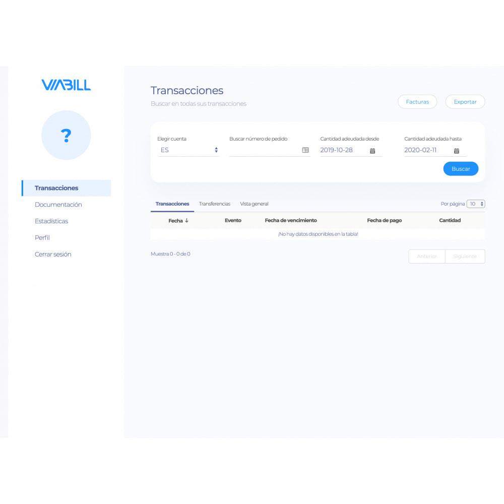 module - Pago con Tarjeta o Carteras digitales - ViaBill Official – Try, before you buy! - 2