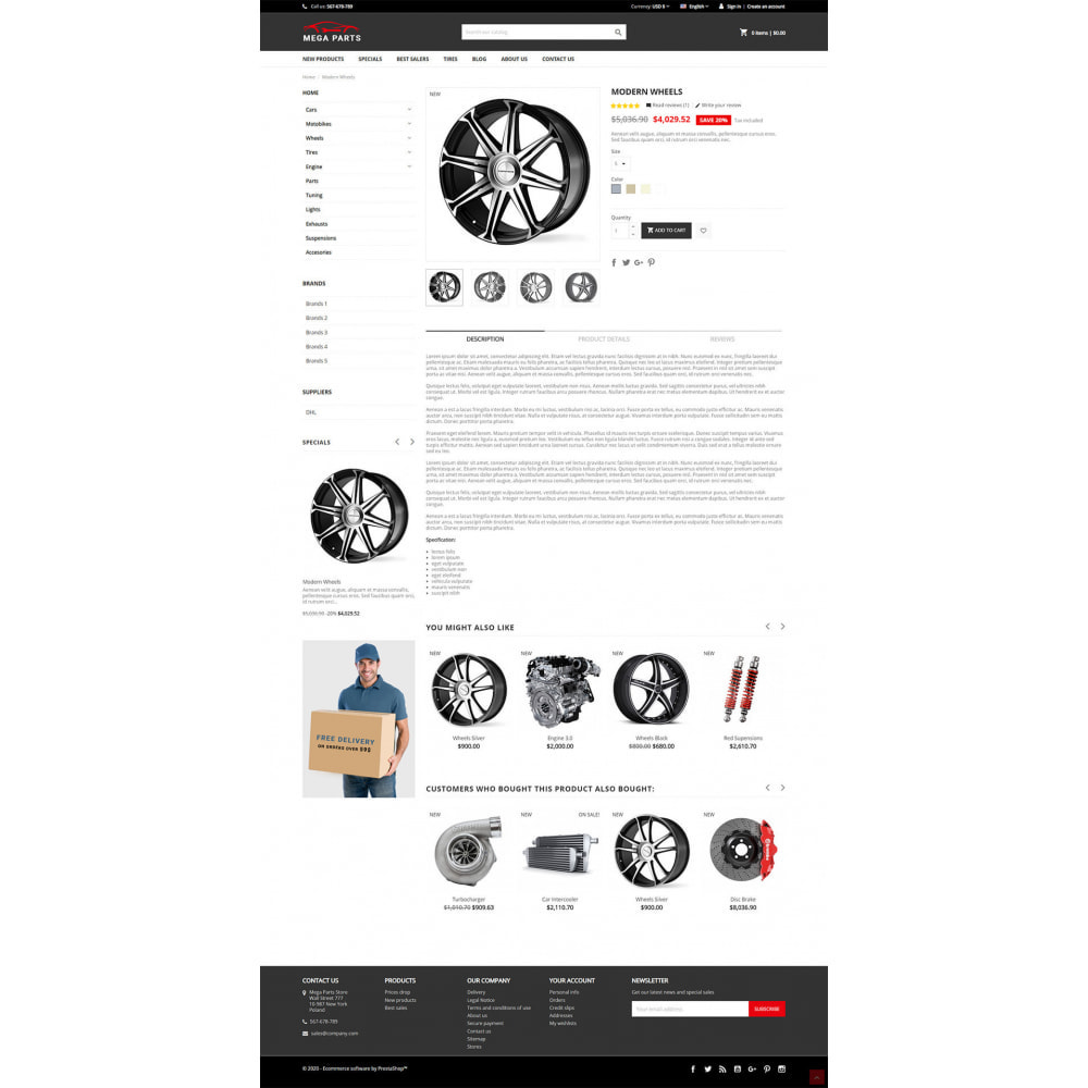 theme - Samochody - Mega Parts Store - 3