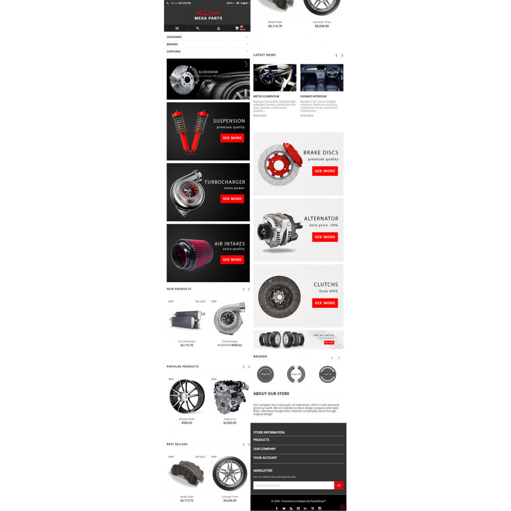 theme - Samochody - Mega Parts Store - 6