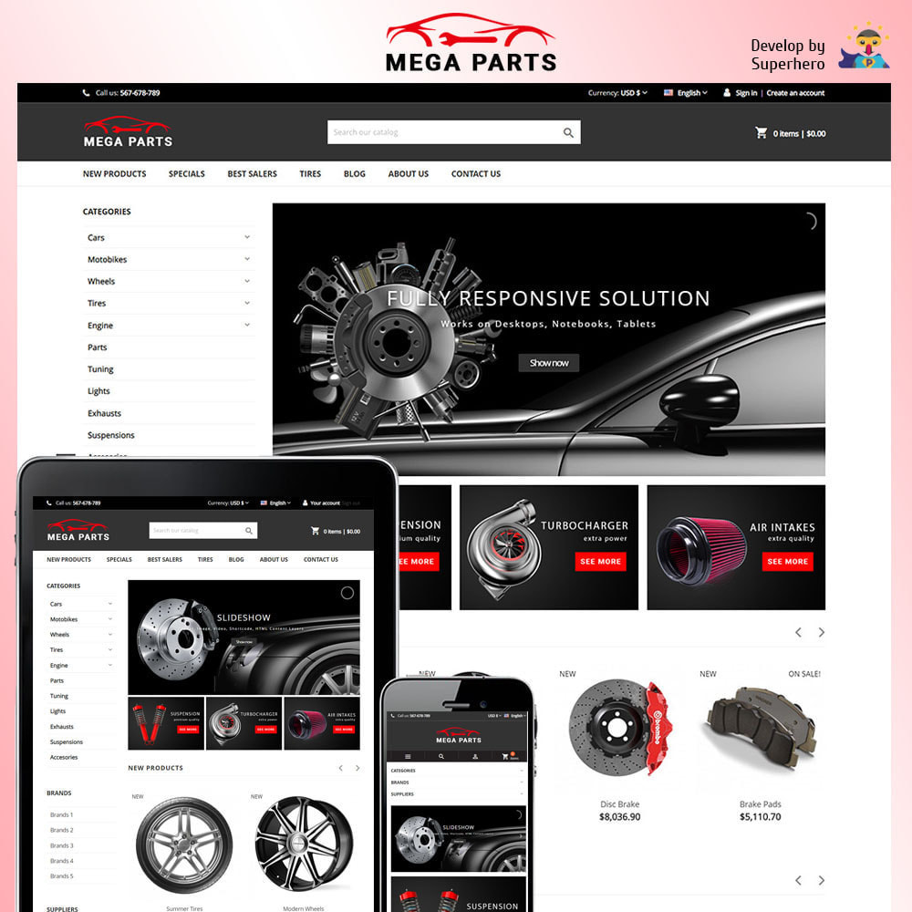 theme - Auto & Moto - Mega Parts Store - 1