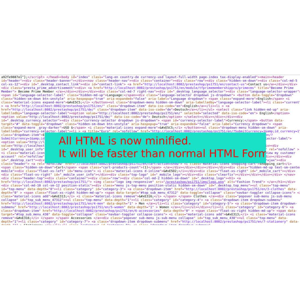 module - Повышения эффективности сайта - Minify HTML, CSS & JS Pro - 5
