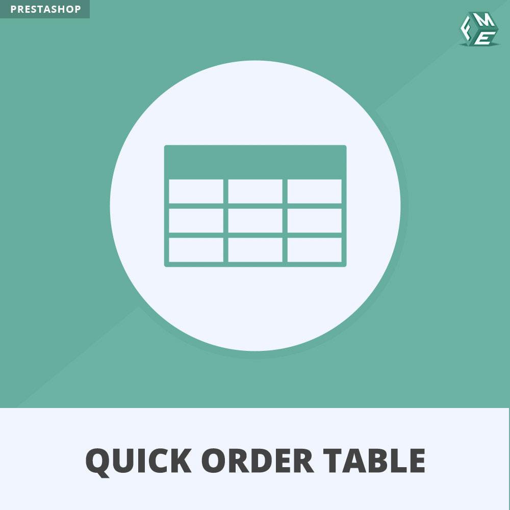 module - Order Management - Quick Order Form | Order Table - 1