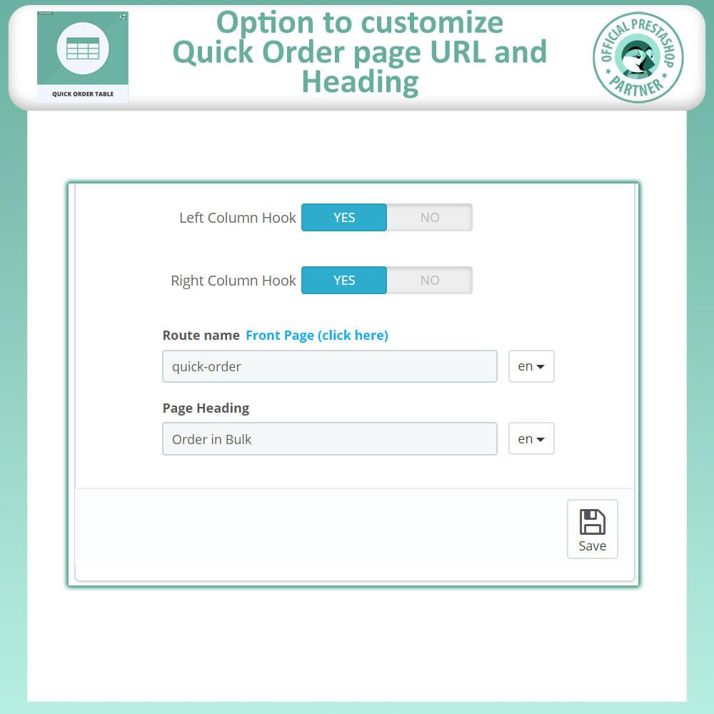 module - Order Management - Quick Order Form | Order Table - 8