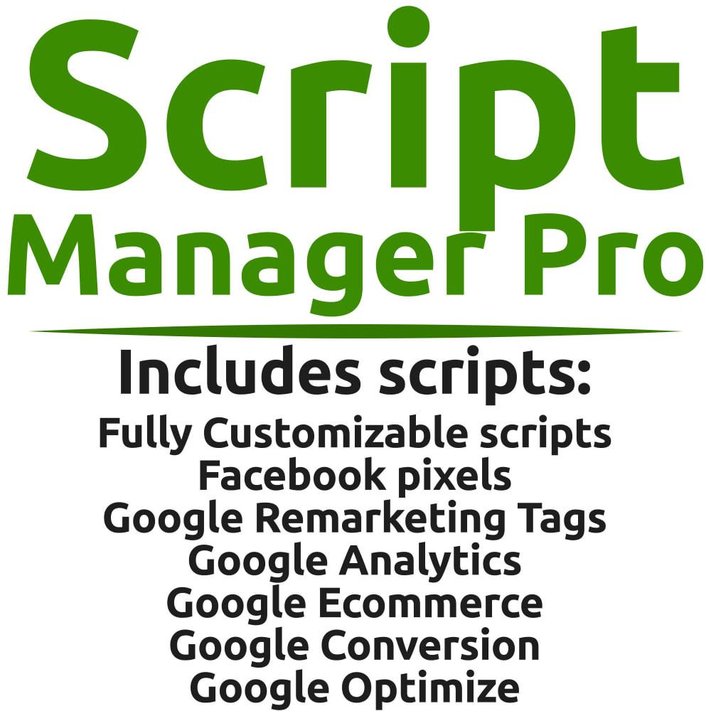 module - Analytics & Statistiche - Script Manager Pro (Customizable Scripts, APIs & GDPR) - 1