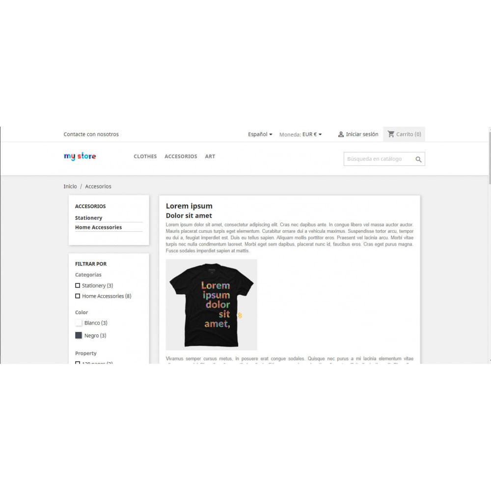 module - SEO (Posicionamiento en buscadores) - Descripción adicional en categoría - 5