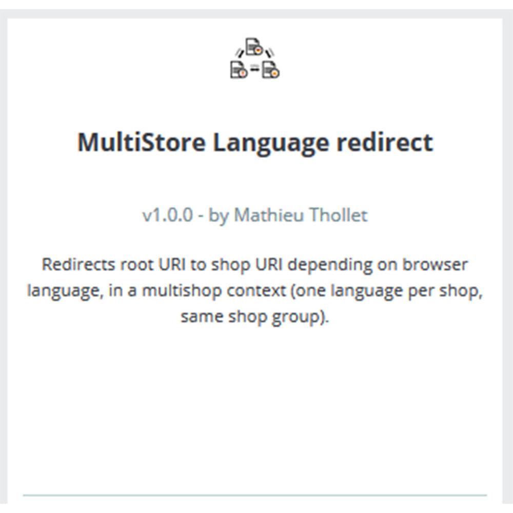 module - Международный рынок и геолокация - Перенаправление языков - Мульти магазин - 3
