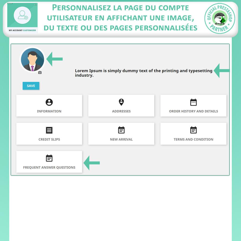 module - Outils d'administration - Personnalisateur De Mon Compte - 3