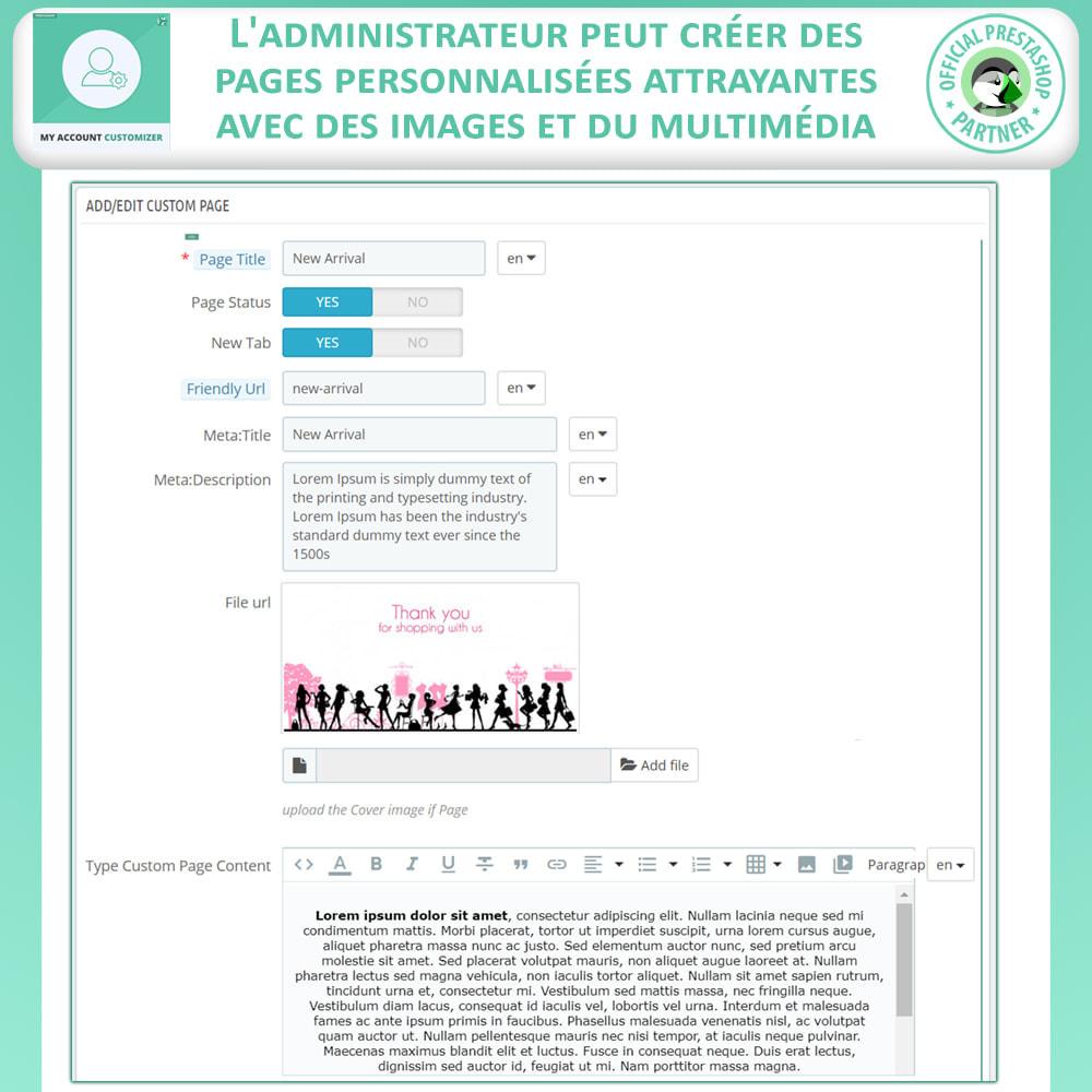 module - Outils d'administration - Personnalisateur De Mon Compte - 6