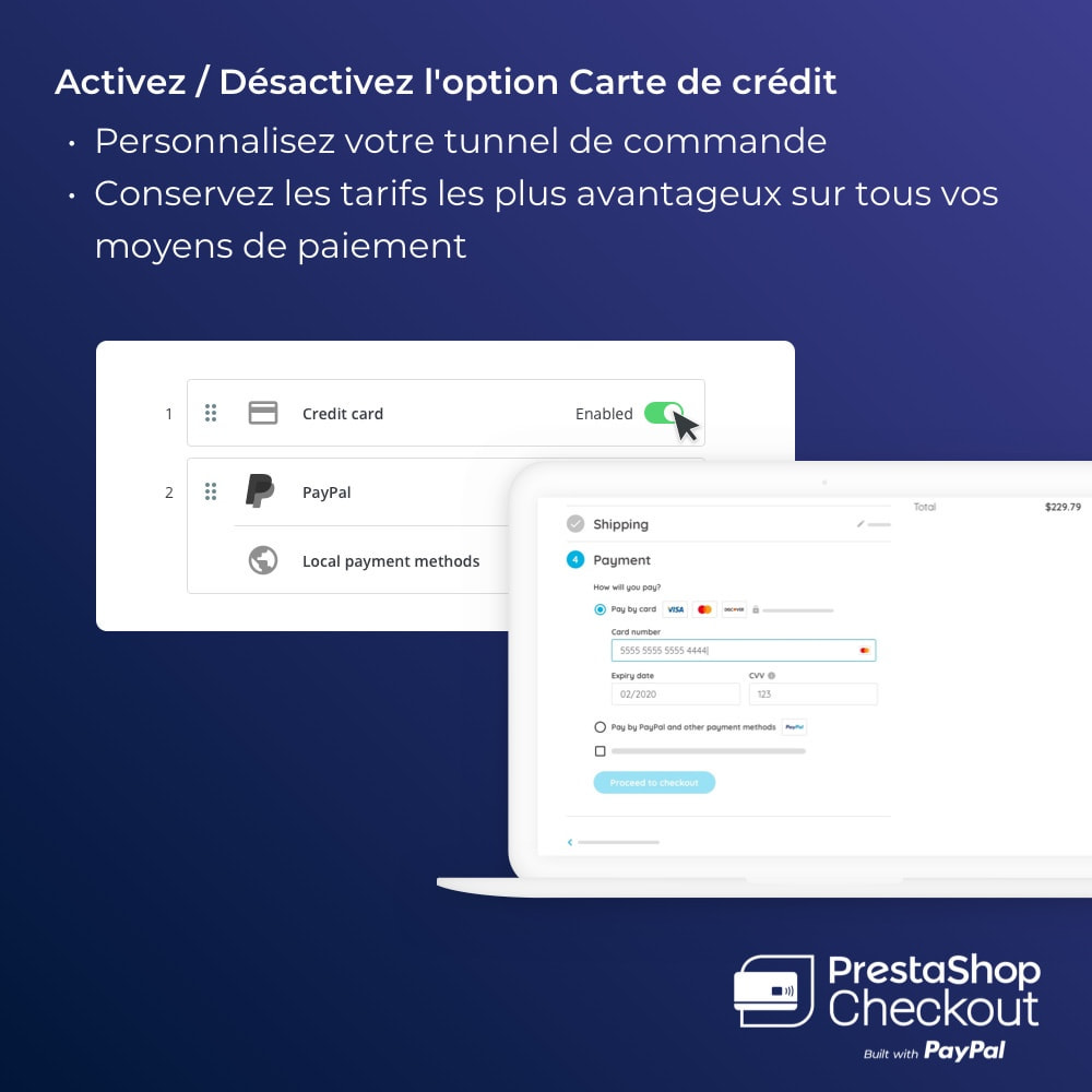 module - Paiement par Carte ou Wallet - PrestaShop Checkout built with PayPal - 8