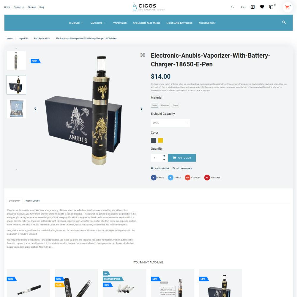 theme - Drink & Wine - Cigos - E-cigarettes Store - 7