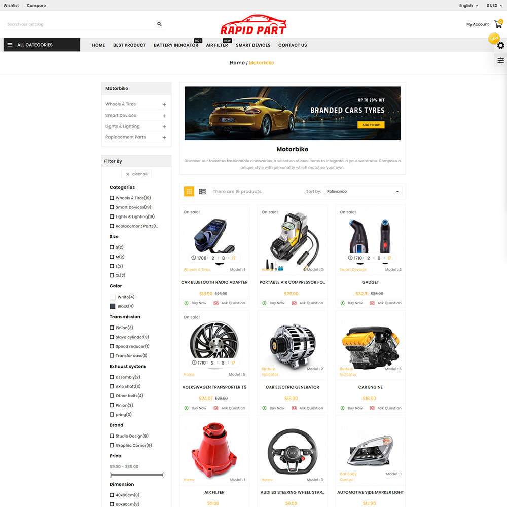theme - Auto & Moto - Rapid AutoPart Store - 2
