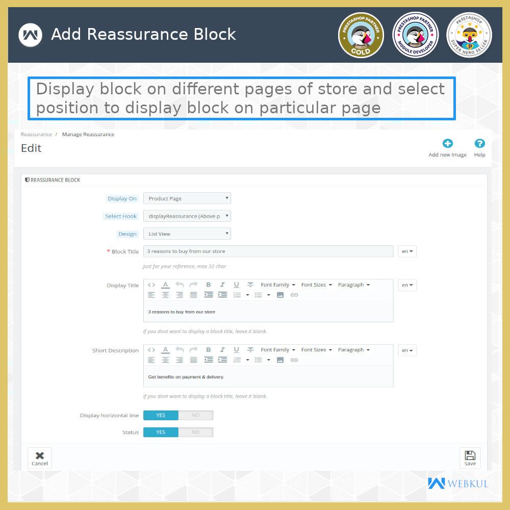 module - Blocchi, Schede & Banner - Advance Reassurance Block - 6
