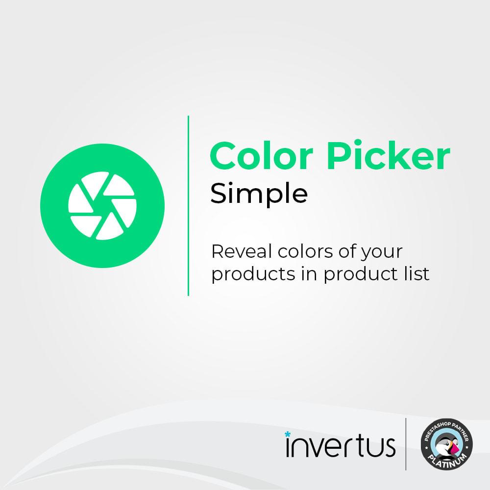 module - Diversificação & Personalização de Produtos - Color Picker Simple - For Product Attributes - 1