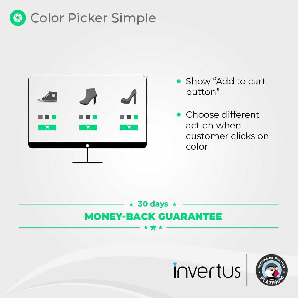 module - Diversificação & Personalização de Produtos - Color Picker Simple - For Product Attributes - 2