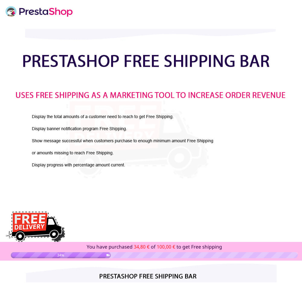 module - Блоки, вкладки и Баннеры - Free Shipping Bar - 10