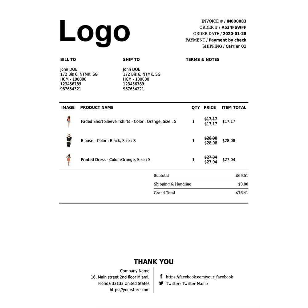 module - Buchhaltung & Rechnung - DocumenThemix: Invoice Template, Credit, Delivery Slips - 12