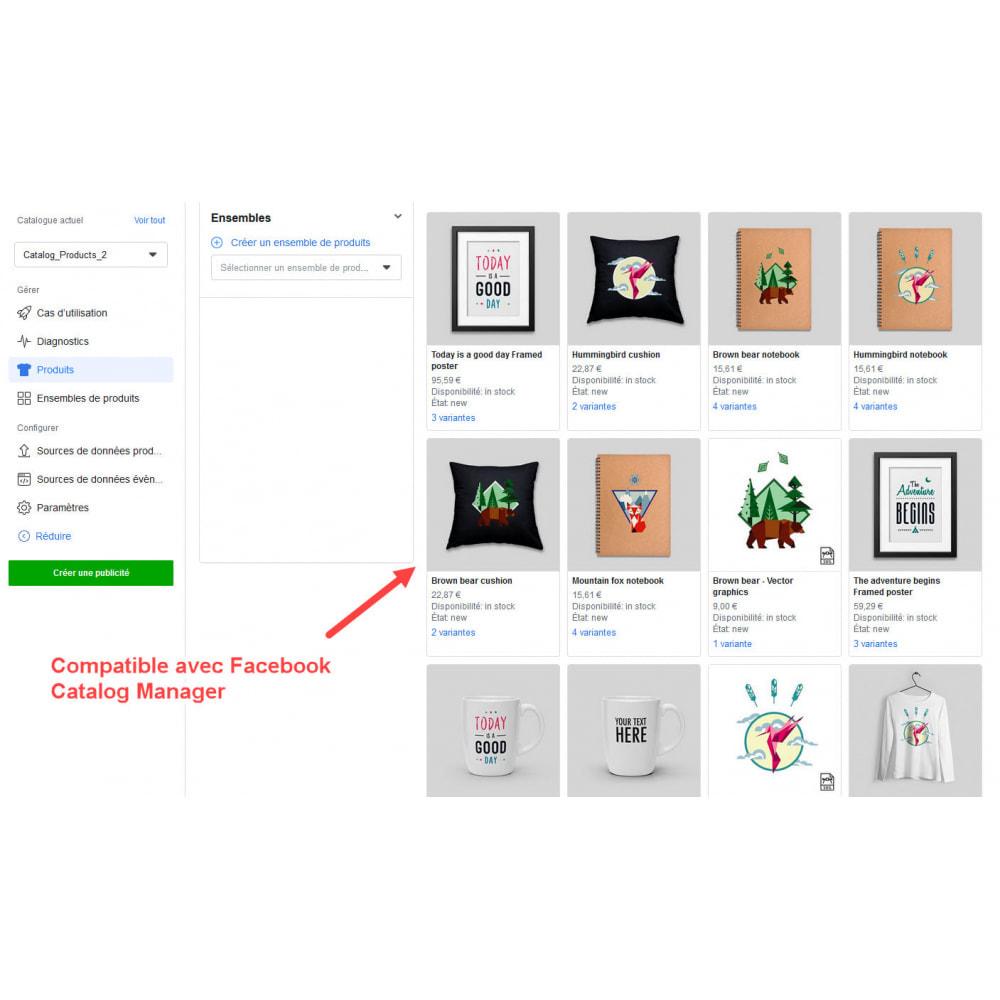 module - Produits sur Facebook & réseaux sociaux - Importateur de Catalogue sur Facebook et Instagram Shop - 8