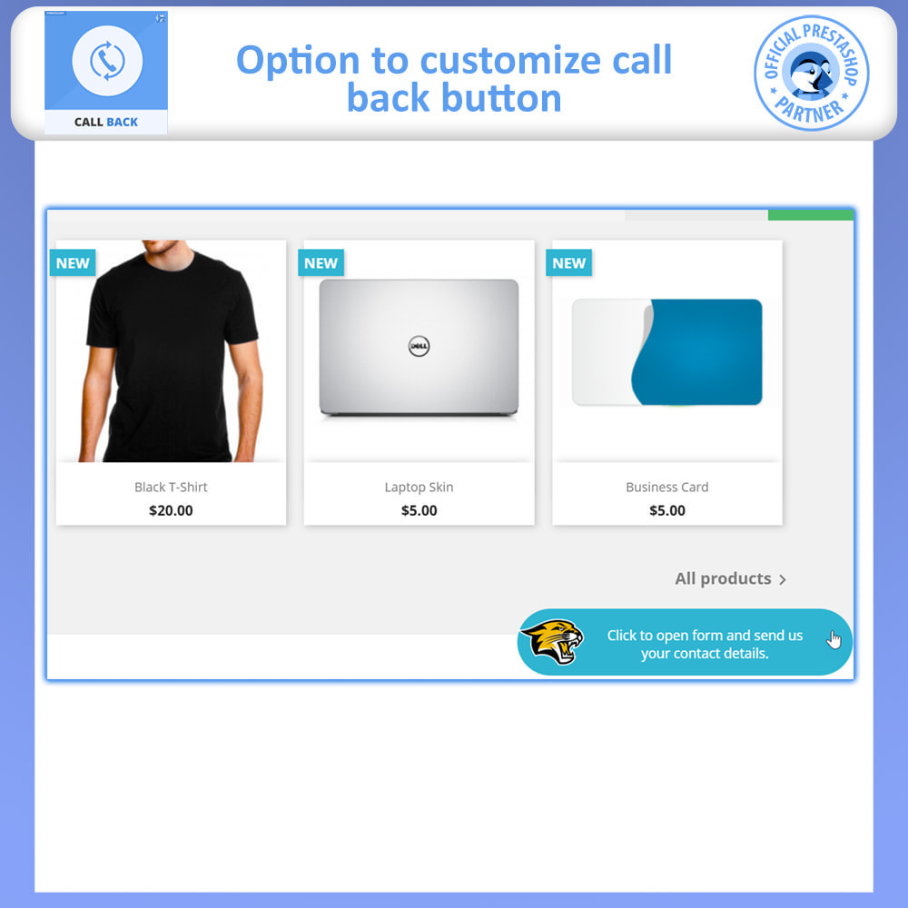 module - Suporte & Chat on-line - Call Back - Fixed & Floating Call Back Form - 3