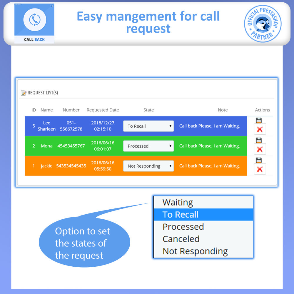 module - Suporte & Chat on-line - Call Back - Fixed & Floating Call Back Form - 6