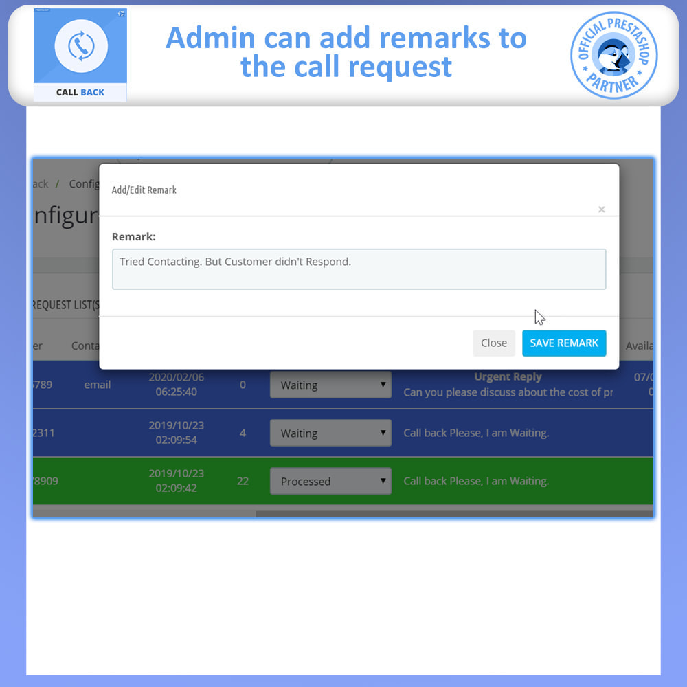 module - Suporte & Chat on-line - Call Back - Fixed & Floating Call Back Form - 7