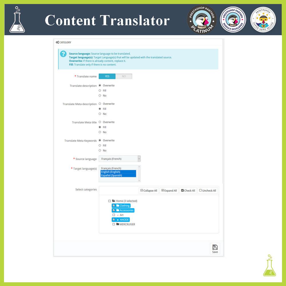 module - International & Localization - Advanced content translator - 3