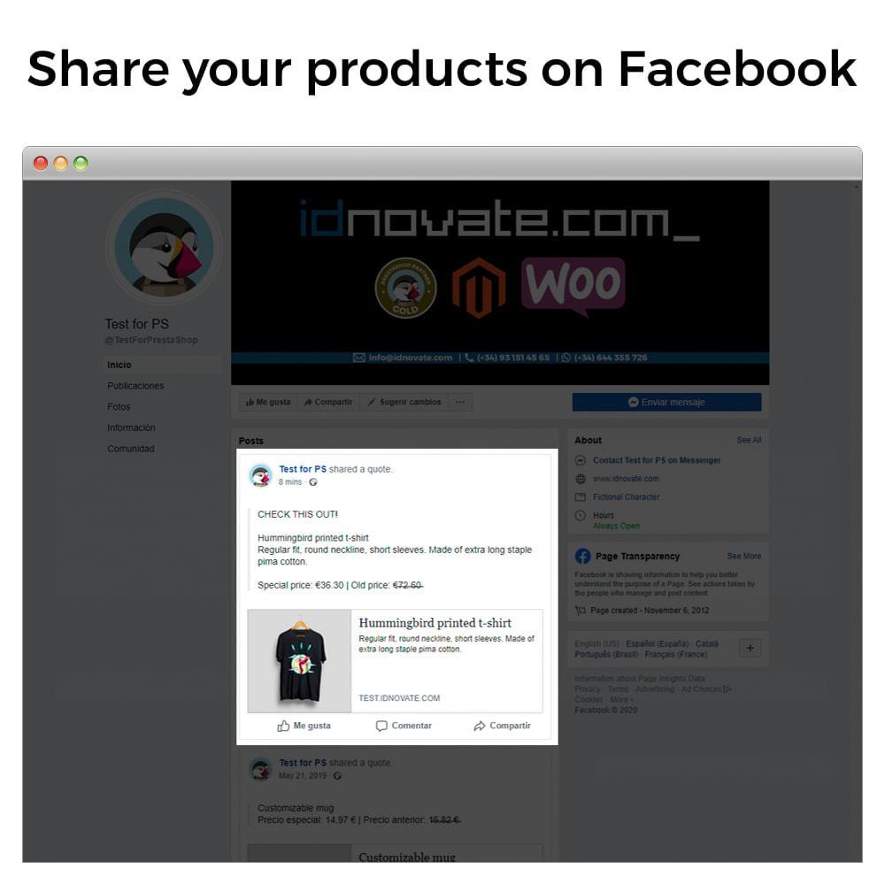 module - Produkte in Facebook & sozialen Netzwerken - Share on Social Network from the Backoffice - 2