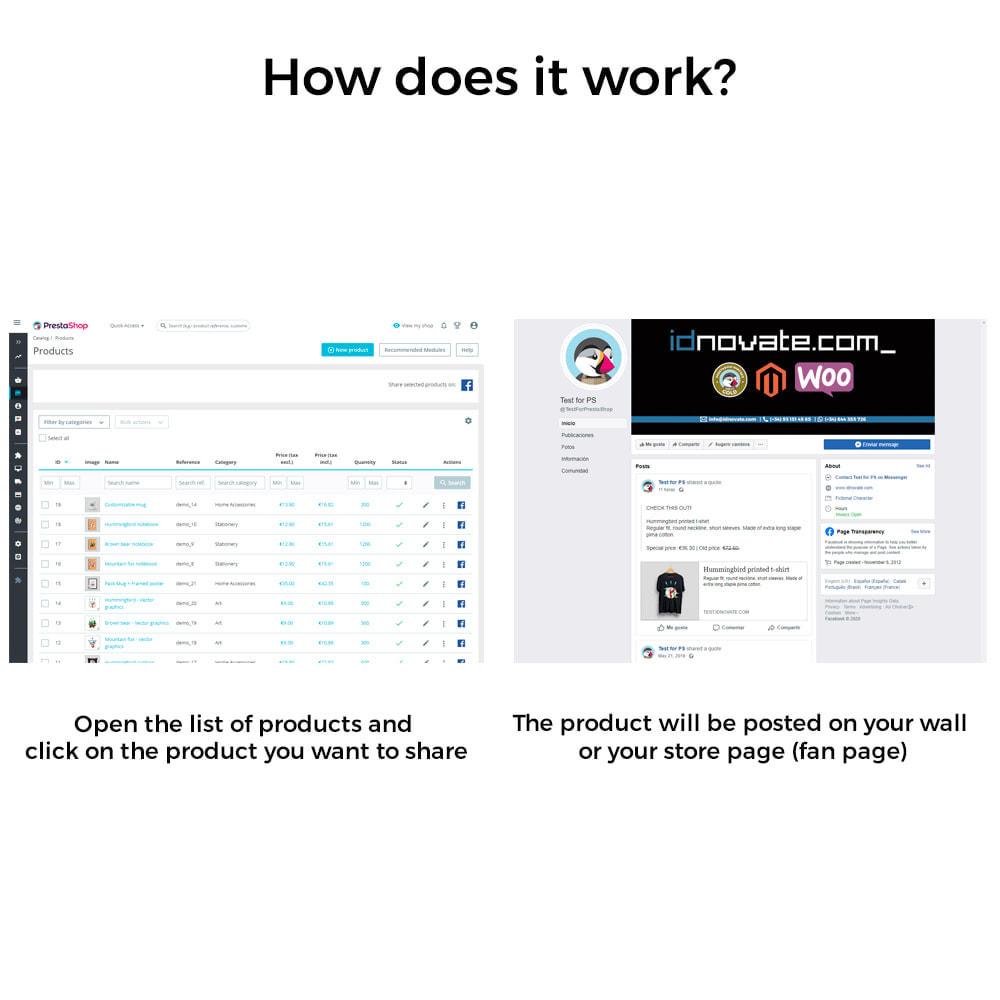 module - Produkte in Facebook & sozialen Netzwerken - Share on Social Network from the Backoffice - 5