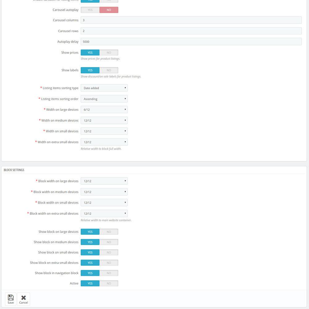 module - Produkte auf der Startseite - Custom product blocks and listings for homepage - 12