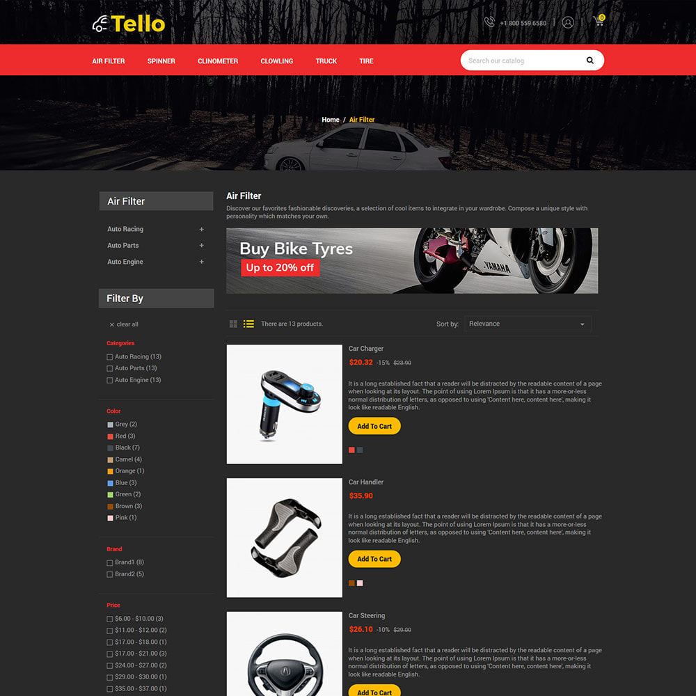 theme - Авто и Мото - Auto Moto - Tool Car Spare Wheel Store - 4