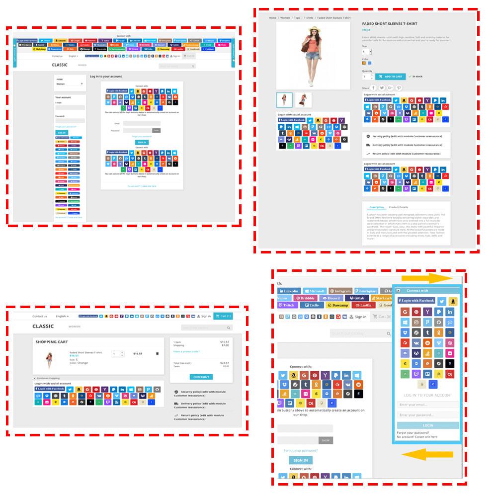 module - Boutons Login & Connect - Social Login & Connexions 40 en 1 Coupons, Statistiques - 2