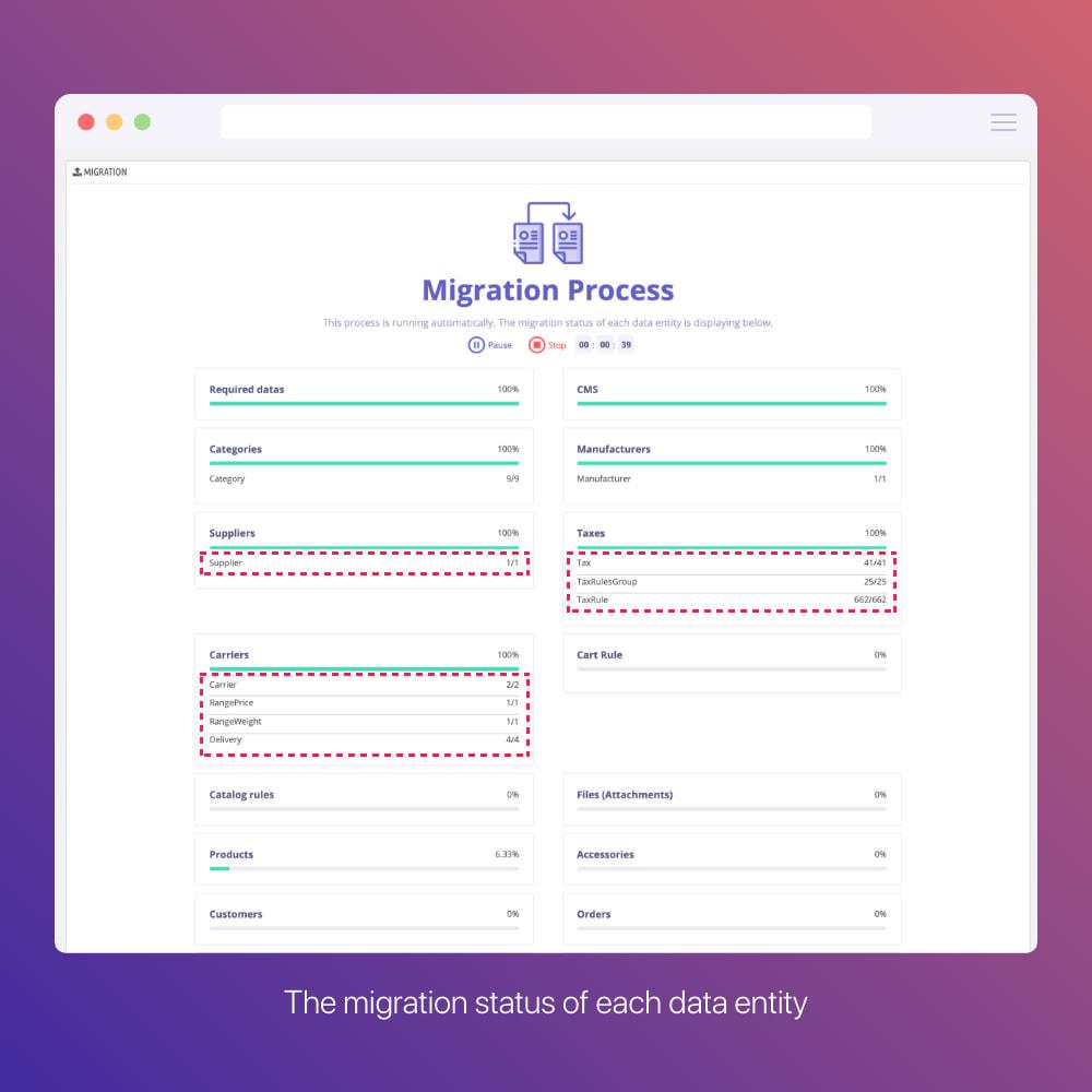 module - Migration de Données & Sauvegarde - Prestashop Migration Tool - Upgrade or Migrate to 1.7 - 6