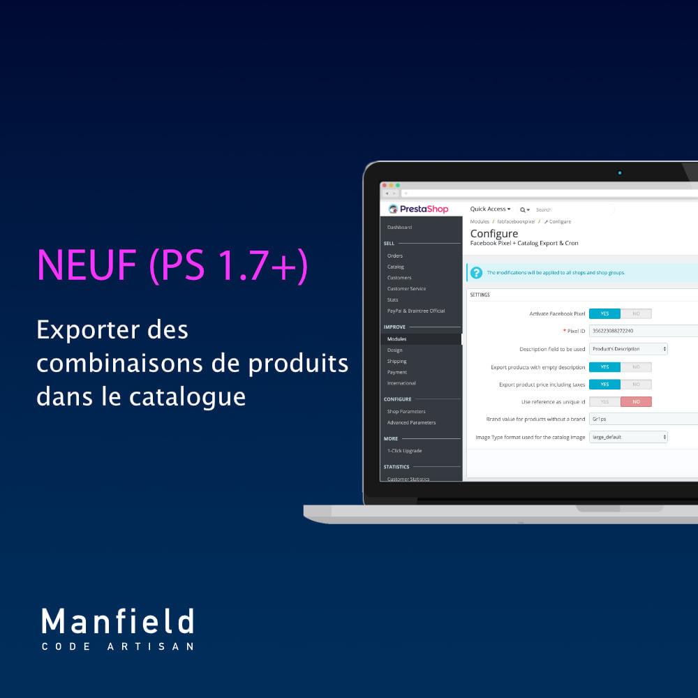 module - Produits sur Facebook & réseaux sociaux - Facebook Pixel + Track E-commerce + Catalogo e Cron - 3