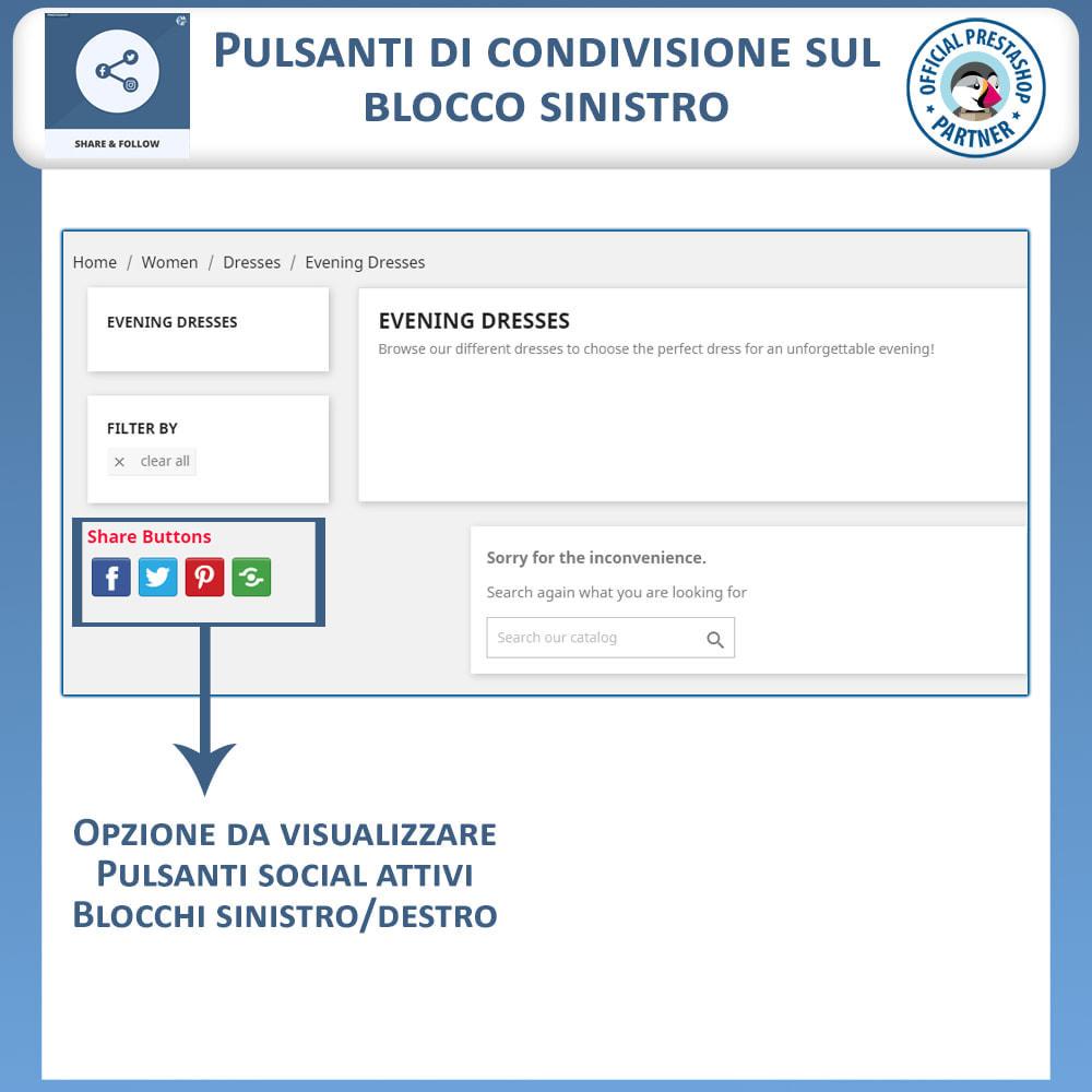 module - Pulsanti di condivisione & Commenti - Condividere e Seguire – Widget Sociale - 3