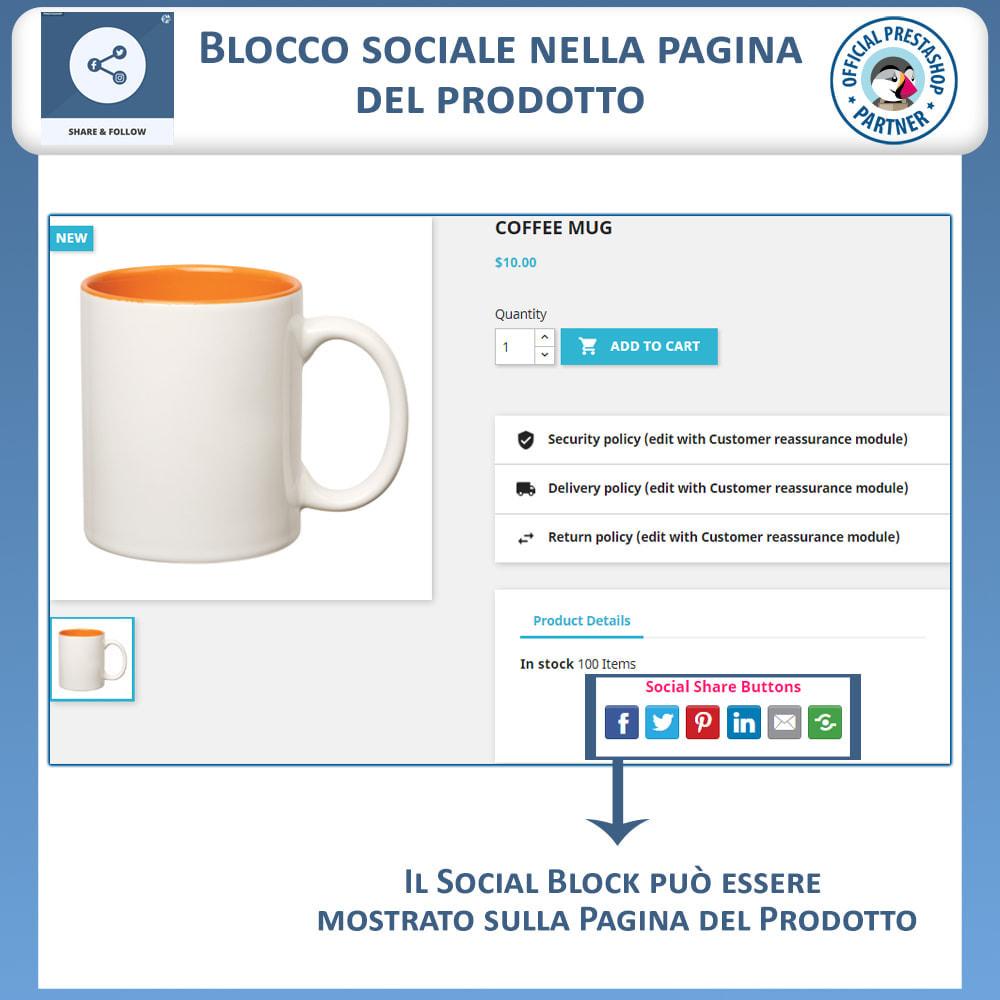 module - Pulsanti di condivisione & Commenti - Condividere e Seguire – Widget Sociale - 4