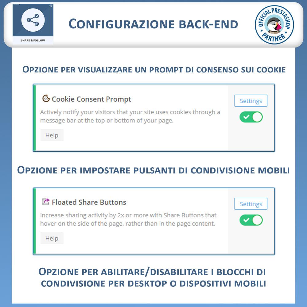 module - Pulsanti di condivisione & Commenti - Condividere e Seguire – Widget Sociale - 7