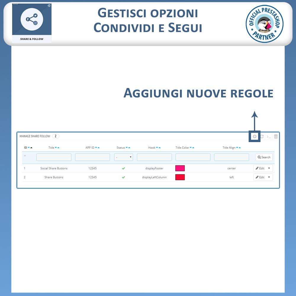 module - Pulsanti di condivisione & Commenti - Condividere e Seguire – Widget Sociale - 8