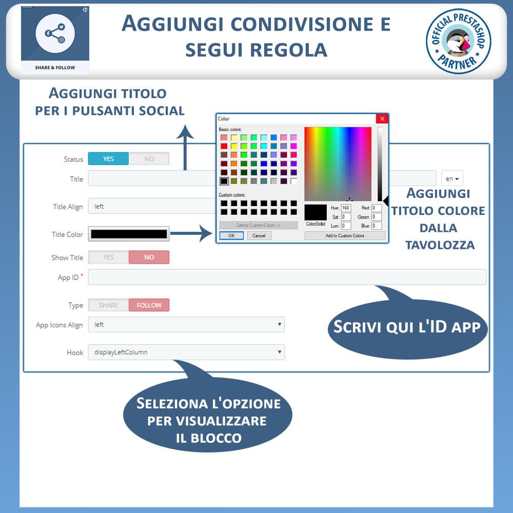 module - Pulsanti di condivisione & Commenti - Condividere e Seguire – Widget Sociale - 9