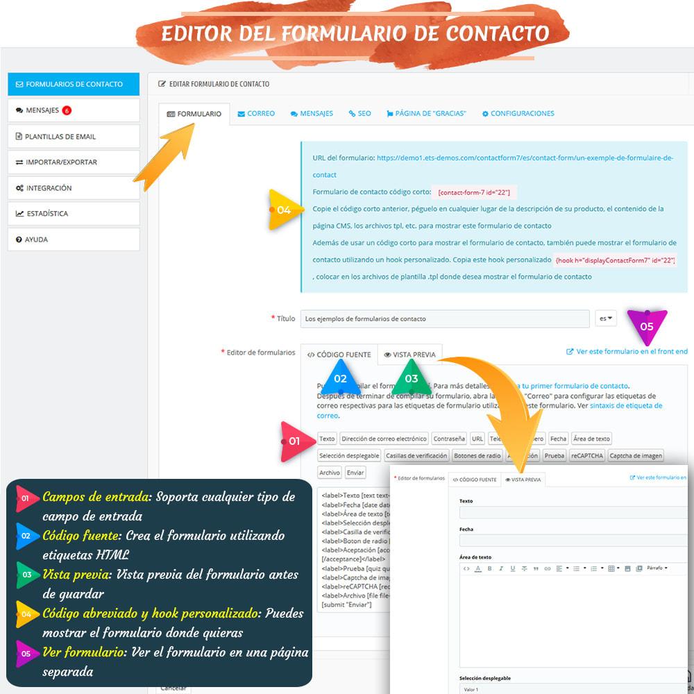 module - Formulario de contacto y Sondeos - Contact Form 7 – Generador de formularios de contacto - 6