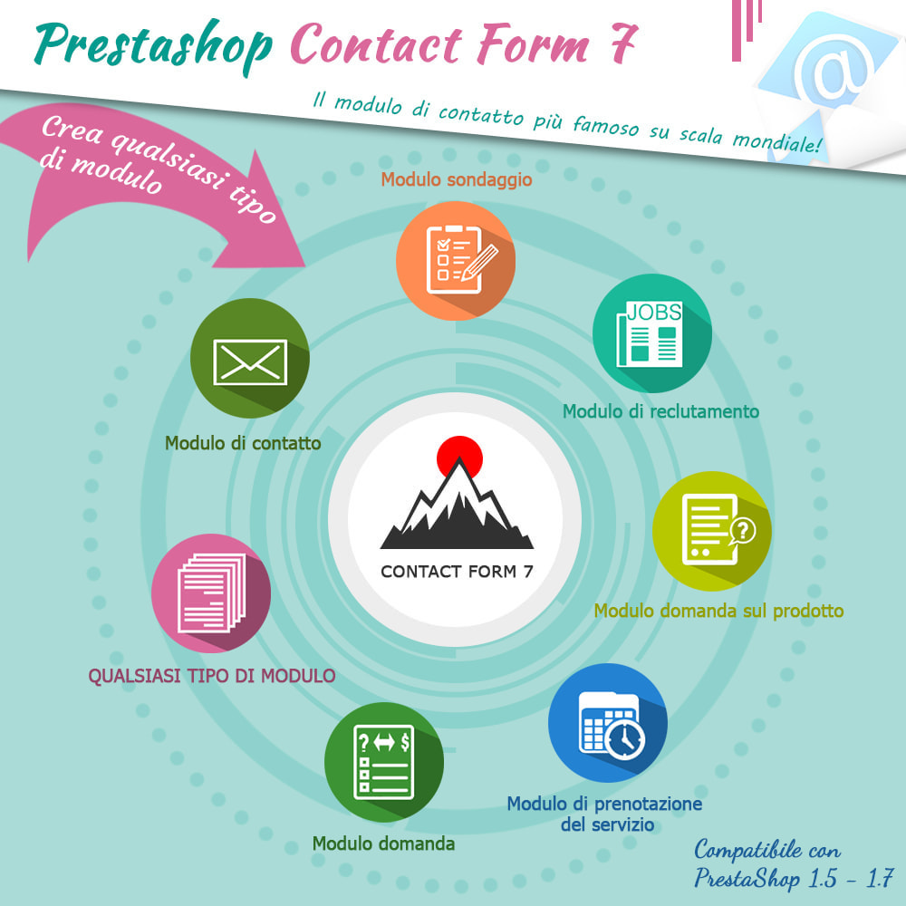 module - Form di contatto & Questionari - Contact Form 7 – Creatore di moduli contatto flessibili - 1