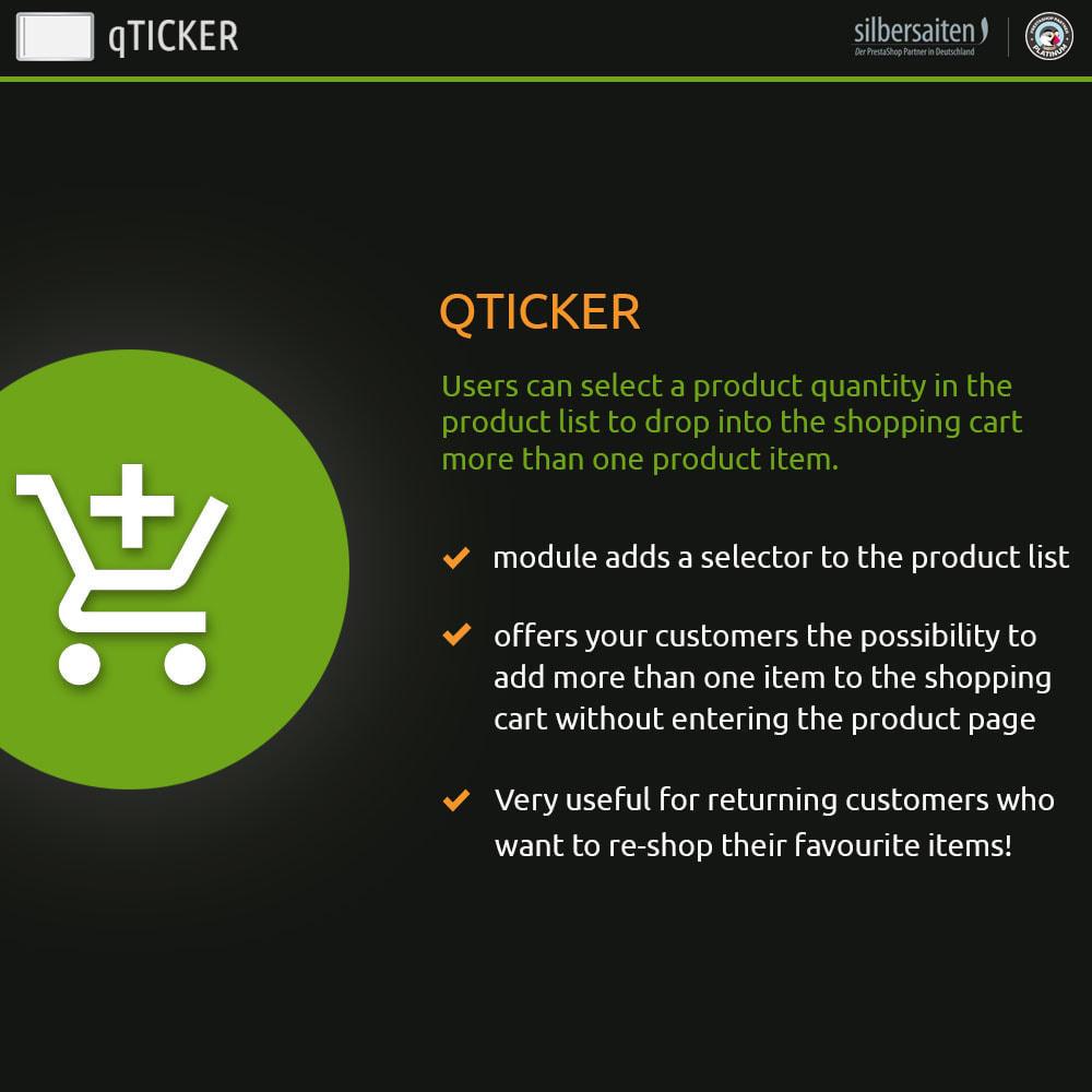 module - Express Checkout - Qticker - Informazioni sulla quantità - 1
